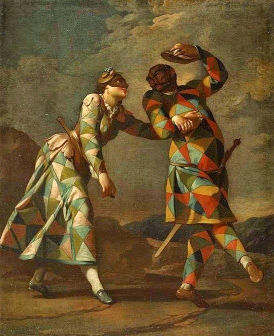 Harlekin-Gemälde-Ferretti-1750